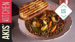 Greek lentil soup in Sign Language | Akis Petretzikis Kitchen