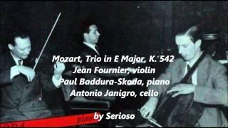 mozart, Trio in E Major, K  542 , janigro