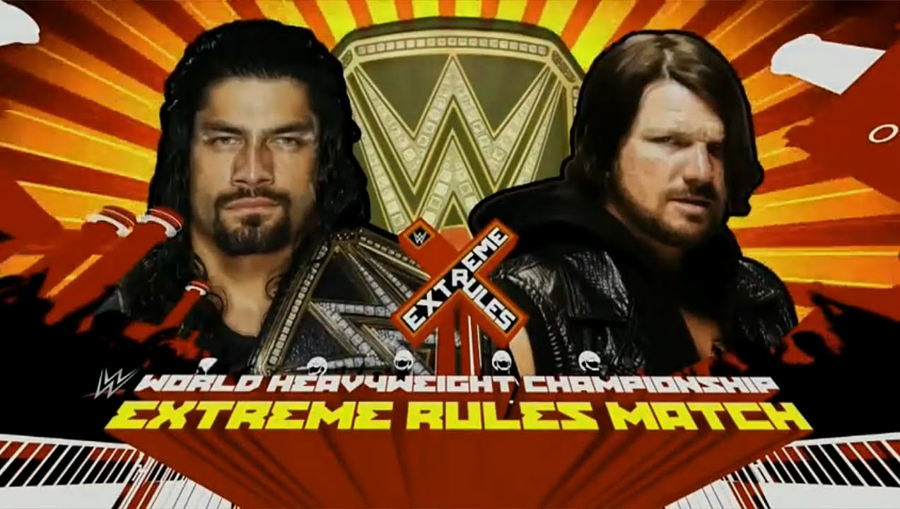 scheduled matches extreme rules match