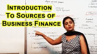 Introduction to Sources of Business Finance Cl XI Bussiness Studies by Ruby Singh