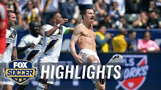 Zlatan Ibrahimovic scores amazing first MLS goal in Galaxy debut vs. LAFC | 2018 MLS Highlights
