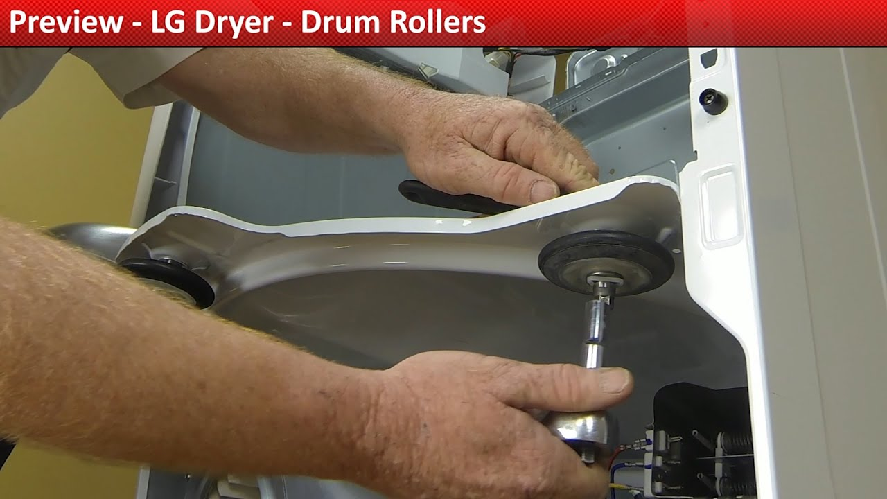 Lg Dryer Drum In The Hole ~ Lg dryer drum roller replacement youtube