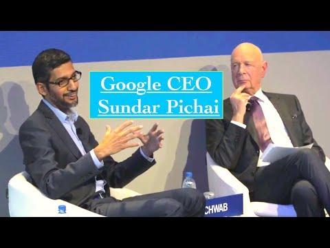Google CEO Sundar Pichai Interview on Artificial Intelligence (AI) & Blockchain 2018 Davos
