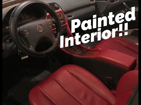 DIY PAINTING CAR SEATS DIFFERENT COLOR !!