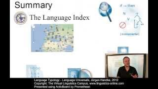 Language Typology - Language Universals