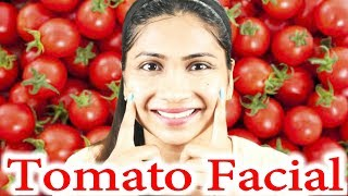 Best TOMATO FACIAL at home to get fair spotless GLOWING SKIN/Tomato facial cleanser and tomato scrub