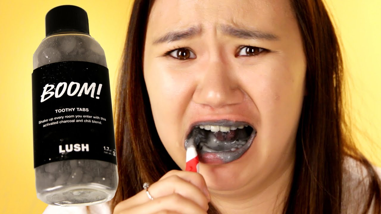 People Try Lush S Toothpaste Alternatives Youtube