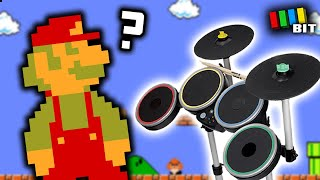 Is it Possible to Beat Super Mario Bros. Using ONLY Rock Band Drums? [TetraBitGaming]