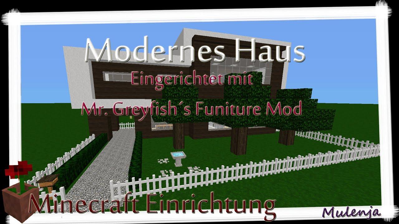 Minecraft modernes haus einrichten in minecraft youtube - Minecraft haus einrichten ...