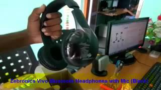 Zebronics Vivo Bluetooth Headphones with Mic Black