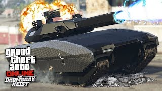 GTA 5 DOOMSDAY HEIST!! *FUTURISTIC TANK w/ RAILGUN CANNON!* (GTA 5 Online Heists)