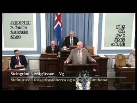 Steingrímur J. Sigfússon - Eldhúsdagsumræður 2. okt. '08 [2/2]