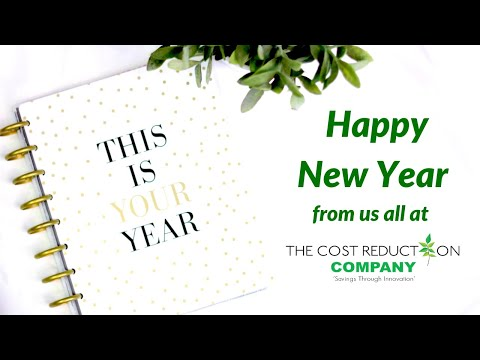 New Year Video Message from The Cost Reduction Company Team - Welcome to 2021!