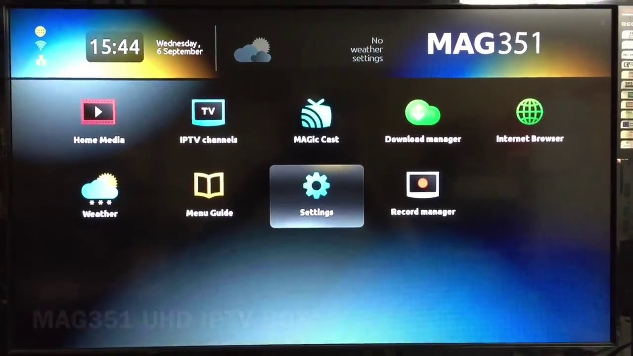 MAG351 UHD IPTV Box