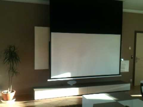 installation vid oprojecteur panasonic et ecran cin ma oray youtube. Black Bedroom Furniture Sets. Home Design Ideas