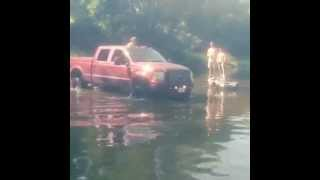 Lifted 6.0L Powerstroke River Crossing