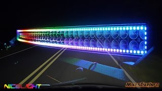 Nicoko 22 rgb light bar review install welker farms inc nicolight chaser led light bars detailed look in 4k aloadofball Images