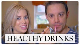 HEALTHY DRINKS   KALE SMOOTHIE & TURMERIC SHOT