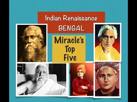 Miracle's Top Five : Authors of Indian Renaissance [Bengal ]