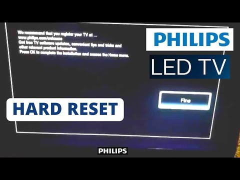 How to Reset PHILIPS Smart TV to Factory Settings || Hard Reset a PHILIPS  Smart TV