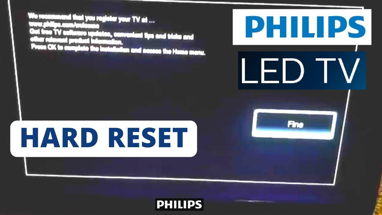 how to reset philips smart tv to factory settings hard reset a philips smart tv