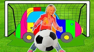Learn colors with Colorful Car and Magic Ball. Children's song & Family colors