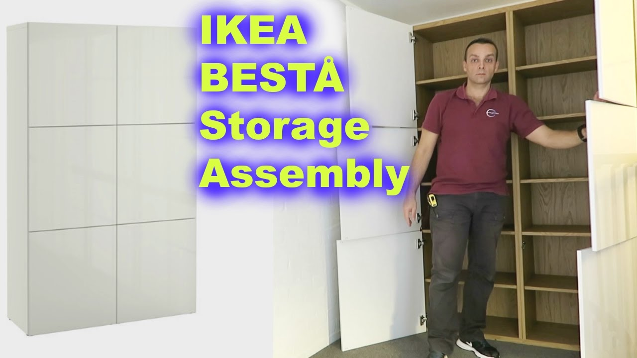 Ikea Kast Besta Ikea BestÅ Storage Combination White Assembly