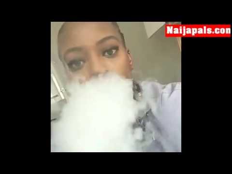 Anastasia Brenda Biya Eyenga Smoking