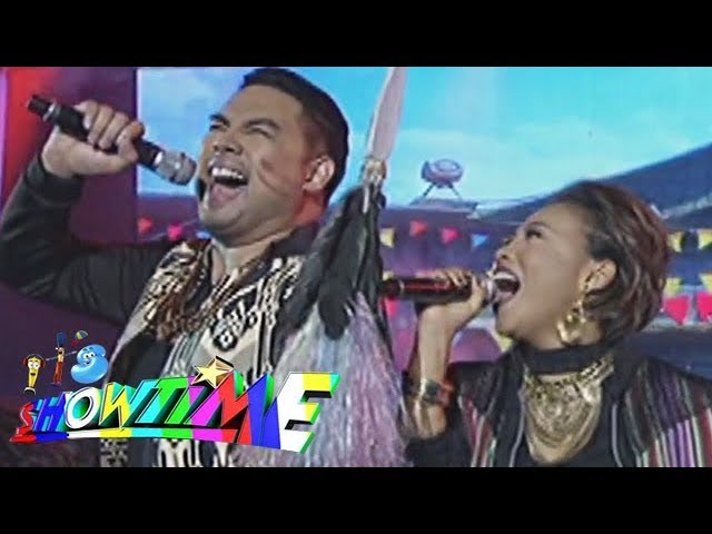 It's Showtime: Jaya and Jed Madela turn Waray waray into a beatbox and rap performance