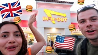 BRITISH Try IN-N-OUT BURGER for the FIRST TIME!
