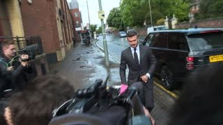 David Beckham arrives at court for using phone while driving
