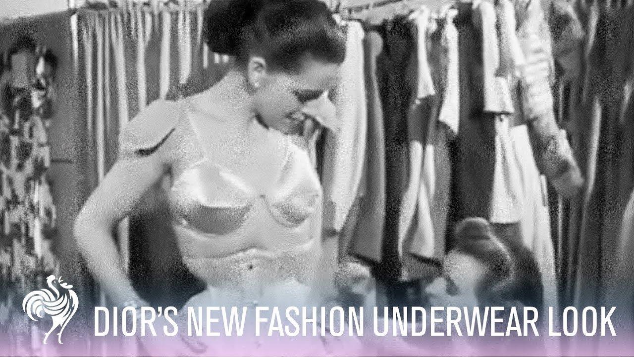 Christian Dior's New Fashion Underwear Look (1948) | Vintage Fashion