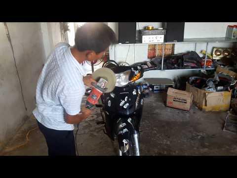 Cách Đánh Bóng Xe Máy Honda Đẹp Như Mới.tập 28