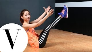 五招核心訓練瘦小腹超有效 Plank/ 船式/ 爬山姿...|#adigirls美力訓練營