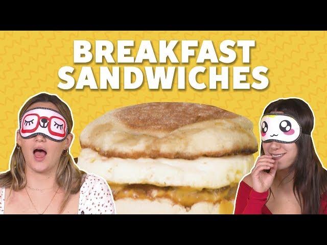 We Tried Fast Food Breakfast Sandwiches | TASTE TEST