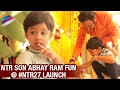 Jr NTR Son Abhay Ram Fun at NTR 27 Movie Launch