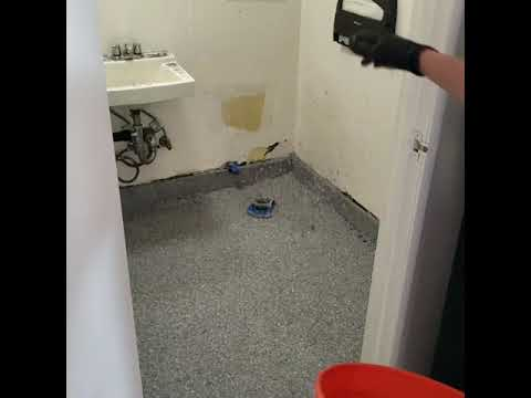 DIY epoxy floor. Polyurea one day floor how to.