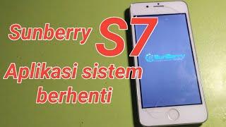 Sunberry S7 [ Hard Reset ] Aplikasi Sistem Berhenti, Lupa Pola atau Kata Sandi