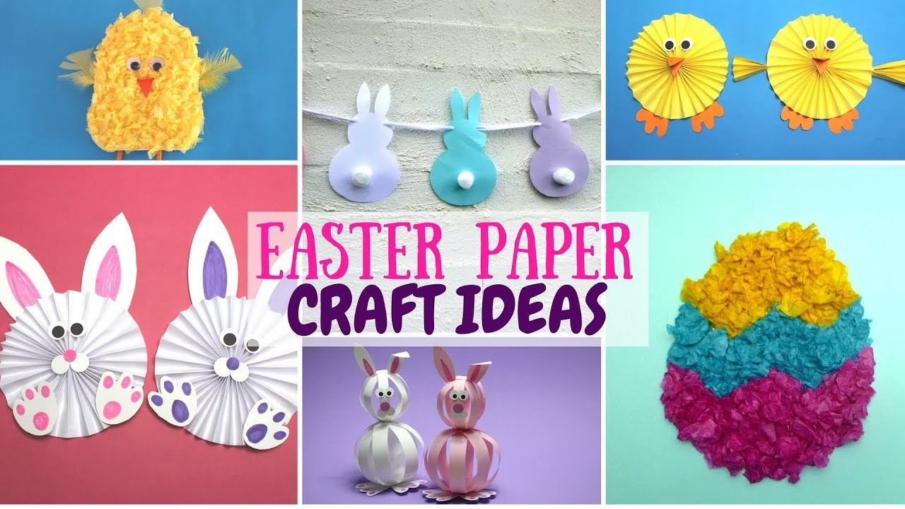 Easter Paper Craft Ideas Paper Crafts For Kids Youtube