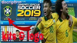 How To Create Brazil National Team Kits & Logo | Dream League Soccer 2019