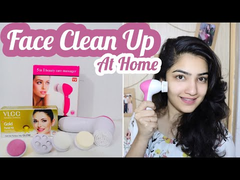Clean Up at Home using Face Massager