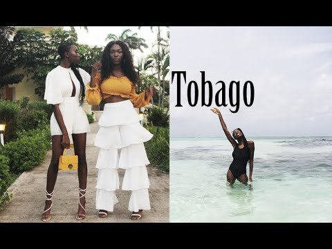 STANDING IN THE MIDDLE OF THE OCEAN?!!?!? TOBAGO TRAVEL VLOG - NYLON POOL, BEACH, SUNSETS, DOUBLES