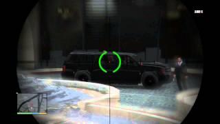 Grand Theft Auto V - Hotel Assassination: Assassinate The Target, Shoot Through SUV w Sniper Rifle