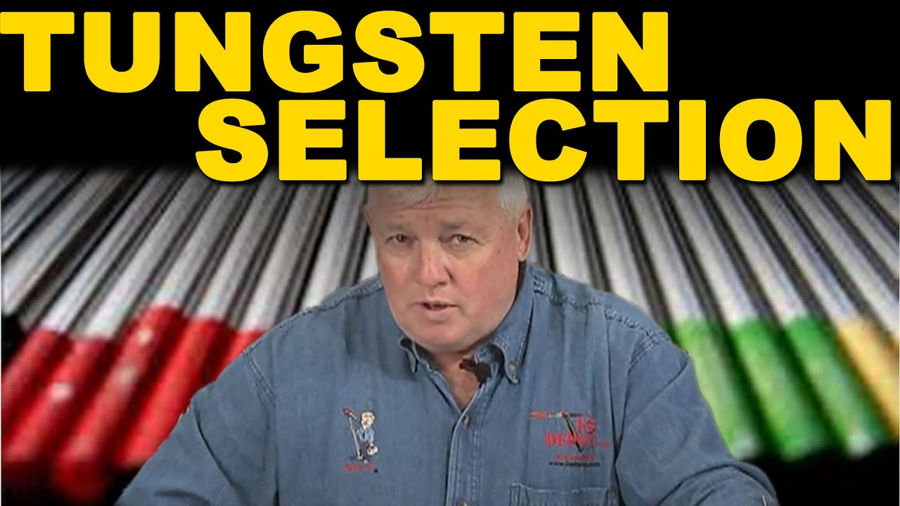 Tig welding tungsten selection time also youtube rh