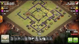 The strongest war base: Base war TH 9 terkuat tanpa bomb tower (replay attack) - tipe 4