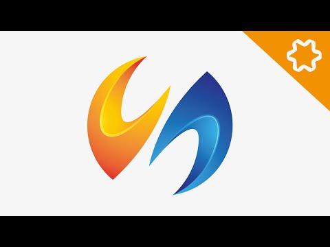 Adobe illustrator / 3d logo design tutorial / Letter Logo / no Coreldraw / N Logo Design