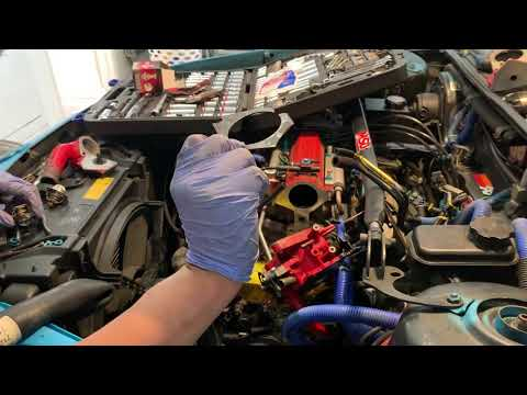 How to change a thermostat on a 1990 Oldsmobile cutlass ciera pt 2