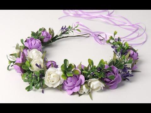 Венки из искусственных цветов на голову своими руками
