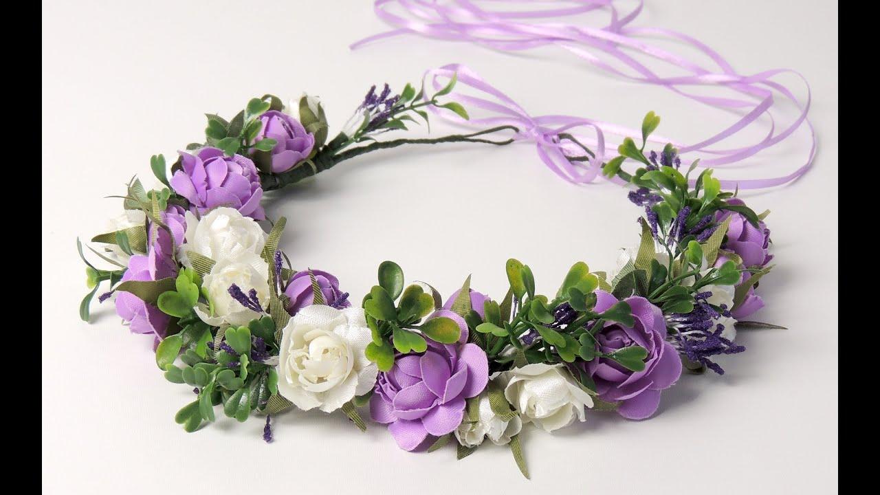 Венки из цветов на голову на фото