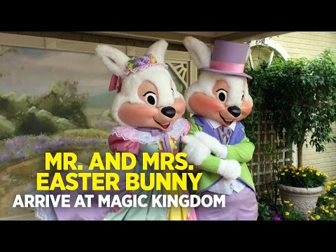 Mr. and Mrs. Easter Bunny has arrived to the Magic Kingdom, Walt Disney World